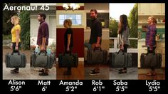 Travel with the Aeronaut. It's now available in two sizes: the Aeronaut 45 (maximum carry-on size) and the Aeronaut 30 (great for European budget airlines and minimalist packers). The Aeronaut is at once soft luggage, a duffel bag, and a backpack. It takes the best of all those bags and combines them into what many people have found to be their most versatile travel bag yet. (www.tombihn.com)