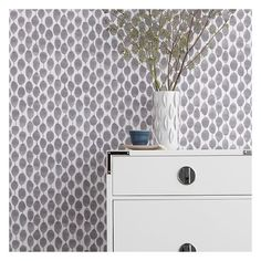 West Elm West Elm Chasing Paper Wall Panel, Single Panel, Stamped Dot. (19 BHD) ❤ liked on Polyvore featuring home, home decor, wallpaper, west elm, dots wallpaper, removable wallpaper, polkadot wallpaper and polka dot home decor