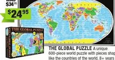 from Entropy Christmas Catalogue 2014 - I've been looking for one of these! Christmas Catalogs, Puzzle Pieces, Countries Of The World, World Countries