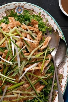 NYT Cooking: Here, Thanksgiving leftovers head East. This fast-assembled salad is nothing more than shredded turkey under a satay-like sauce of peanut butter, chile bean and Chinese vinegar, with some shredded lettuce and chopped cucumbers. It's gloriously wolfable and easy as well.