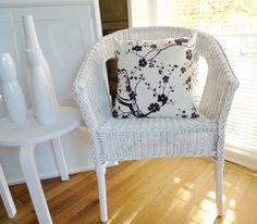 white wicker chair - - I have this in my bedroom and love it!!!!