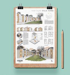 Architecture Concept Diagram, Architecture Presentation Board, Architecture Sketchbook, Architecture Collage, House Sketch Design, Visual Communication Design, Project Presentation, Sustainable Architecture, Architect Design