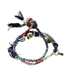 bracelet diy, knotted cords ~ these with a knotted cord necklace, Tshirt and jeans would be perfect! Denim Bracelet, Bangle Bracelets, Jean Crafts, Tribal Necklace, Crochet Necklace, Tiffany Jewelry, Fabric Jewelry, Jewelry Crafts, Jewelry Ideas