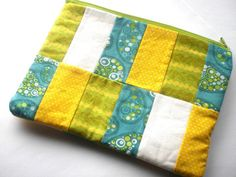 Patchwork Zipper Pouch by PhreshThreadz on Etsy, $18.00