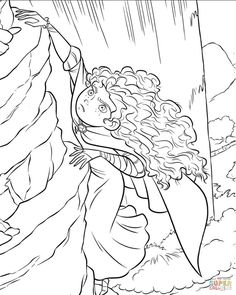 Merida Coloring Pages Brave Coloring Pages Free Coloring Pages Princess Coloring Pages Printables, Kids Printable Coloring Pages, Disney Princess Coloring Pages, Disney Princess Colors, Mermaid Coloring Pages, Coloring Pages For Girls, Cartoon Coloring Pages, Free Coloring Pages, Princess Merida