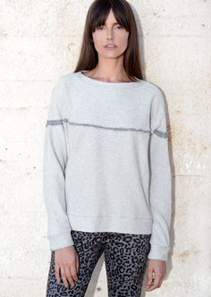 Comfy sweatshirt, no sleeve cut, and horizontal cut with raw edges detail. Long sleeve, Christmas, winter crewneck sweatshirt.  - Available in sizes S-L - See size chart in images. - Available in grey, light grey (inverted), and dark grey french terry - Ready to ship - Hand made in Israel - Hand wash in cold water  GUTSA AW 16-17 COLLECTION ========================= Feel free to contact me with any question - I would love to hear from you