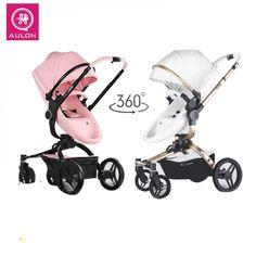 Aulon PU Luxury Baby Stroller 3 in 1 High Landscape Stroller  Price: 5969.00 & FREE Shipping  #babygirl