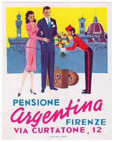 ITALY Firenze - Pensione Argentina | by Luggage Labels by b-effe