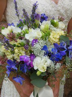 Wildflower brides bouquet