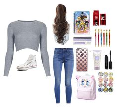 """""""Sailor moon"""" by sonatamoonlight on Polyvore featuring Topshop, Pin Show, Levi's, Converse, Casetify, peripera and Bobbi Brown Cosmetics"""