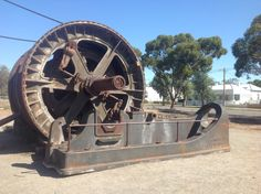 Old mining machinery, Broken Hill, NSW, Australia. Allan M Nixon photo. Historical Pictures, Cannon, Abandoned, Australia, Rustic, Travel, Art, Left Out, Country Primitive