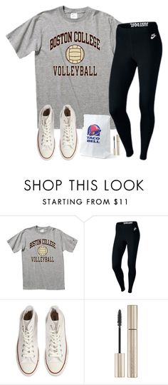 """""""@sdyerrtx is HACKED RTD"""" by madiweeksss ❤ liked on Polyvore featuring NIKE, Converse and Giorgio Armani"""