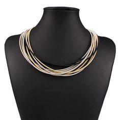 Fashion New Punk Style Jewelry Women Multilayer Vintage Statement Choker Necklace Charm Party Chain Luxury Collar Necklace