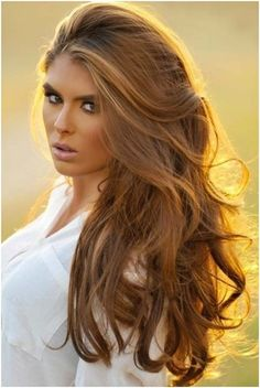 We love this hair color. So great for sun kissed summer skin!