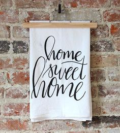 Home Sweet Home Dish Towel by The Oyster's Pearl on Scoutmob Shoppe