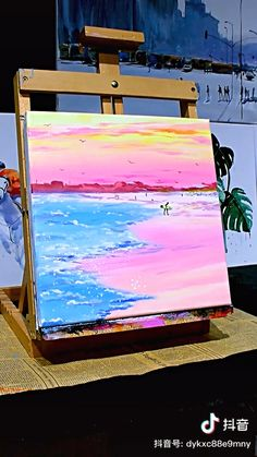 Canvas Painting Tutorials, Easy Canvas Painting, Diy Canvas Art, Painting Techniques, Long Painting, Art Painting Gallery, Cool Art Drawings, Amazing Paintings, Watercolor Art