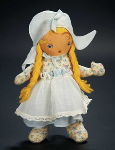 American Cloth Doll as Heidi in Petite Size $100+