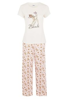 Clothing at Tesco | Disney Bambi Print Pyjamas > nightwear > Women's nightwear > Women