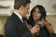 Tony Goldwyn and Kerry Washington in Scandal Tony Goldwyn, World Whiskey Day, Olivia And Fitz, Paris Is Burning, Netflix, Mixed Couples, Olivia Pope, Kerry Washington, Interracial Couples