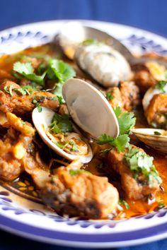 portuguese pork & clams (carne de porco à alentejana)