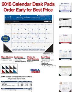 Order 2018 Calendar Desk Pads Before July 1 for Best Price