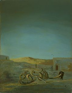 Salvador Dalí / Atmospheric Chair / 1933 / oil on panel / Art Institute of Chicago