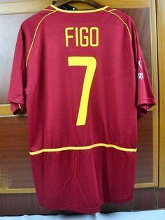 Portugal national football team Nike 2002  7 Figo Classic Rare Retro  Vintage FÚTBOL SOCCER KIT CALCIO SHIRT JERSEY FUSSBALL CAMISA TRIKOT  MAILLOT MAGLIA ... 10af8b22f510a