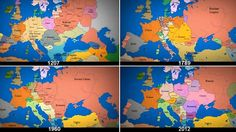 As time goes by: A mesmerising video that documents a millenium of European history in just three minutes.