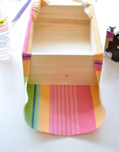 Good way to make nice seam for fabric covered boxes....                                                                                                                                                     More