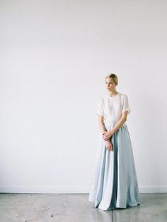 Sophisticated, Modern Bridal Style - Once Wed Luxury Wedding Dress, Modest Wedding, White Wedding Dresses, Wedding Outfits, Blue Wedding, Minimalist Wedding Decor, Neutral Wedding Colors, Contemporary Dresses, Once Wed