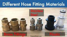 Pressure Washer Hose Fittings Beginner's Guide Pressure Washing Tips, Pressure Washer Accessories, Handy Man, Pipe Sizes, Engine Repair, Pressure Gauge, Small Engine, Car Detailing