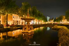 Arnhem, the Netherlands  by night by Xander van Beek on 500px. Arnhem is also called the city of fountains.