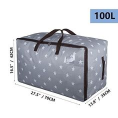 DOKEHOM Large Storage Bag 4 Colors Fabric Clothes Bag Thick Ultra Size Under Bed Storage Moisture Proof Grey -- Find out more about the great product at the image link-affiliate link. Large Storage Bags, Storage Bags For Clothes, Bag Storage, Christmas Tree Storage Bag, Under Bed Storage, Seasonal Decor, Moisturizer, Handle, Classic