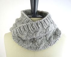 cable tube scarf - I like how this is folded in photo, acutal scarf is much larger