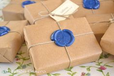 wax seal soap packaging by El Jabón Casero, via Flickr