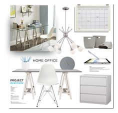 """""""Home office"""" by lilieshomeandgarden ❤ liked on Polyvore featuring interior, interiors, interior design, home, home decor, interior decorating, Williams-Sonoma, Vitra, Pottery Barn and Menu"""