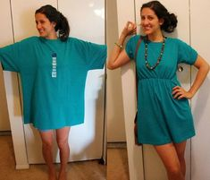 green-t-shirt-to-dress-diy