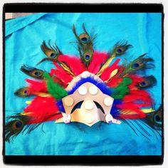 Home made Mayan headdress.