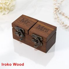 solid WALNUT and Oak handmade from raw materials DIMENSIONS -Box Dimensions (approx. Ring Bearer Pillows, Ring Bearer Box, Wooden Ring Box, Wooden Rings, Proposal Ring Box, Ring Holder Wedding, Picture On Wood, Ring Verlobung, Custom Boxes