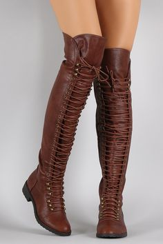 Combat Lace Up Over-The-Knee Boots | UrbanOG