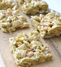 Cake Batter Bars, only five simple ingredients!