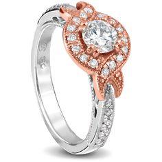 rose and white gold wedding set round Diamonds Wedding Sets, Gold Wedding, Wedding Rings, Round Diamonds, Diamond Rings, Jewelry Design, White Gold, Engagement Rings, Jewels