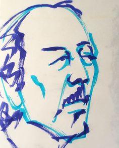 いいね!17件、コメント1件 ― @1mindrawのInstagramアカウント: 「#yokoyamataikan #横山大観 #japanesepainter #日本画家 #18681102 #birthday #1mindraw #一分描画 #誕生日 #portrait…」