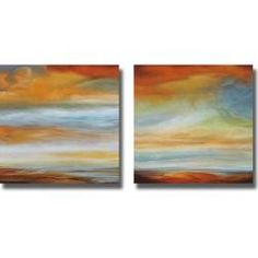 Matt Russel 'Earth and Sky I and II' 2-piece Canvas Art Set | Overstock™ Shopping - Top Rated Canvas