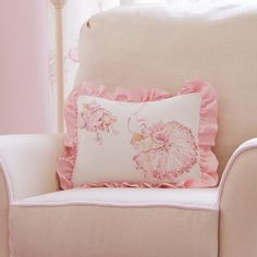 Royal Ballet Decorative Pillow with Ruffle | Carousel Designs
