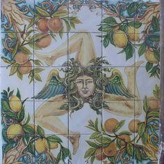 """Pannelli in ceramica cm 100x100 Decorazione a mano Versione dopo la cottura. """"…"""