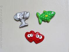 Salt Dough Fathers Day Magnets by CraftsbyAmanda.com @amandaformaro