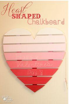 valentine crafts, valentin craft, valentin chalkboard, diy crafts, heart shape, chalkboard paint, heart chalkboard, shape chalkboard, diy valentin