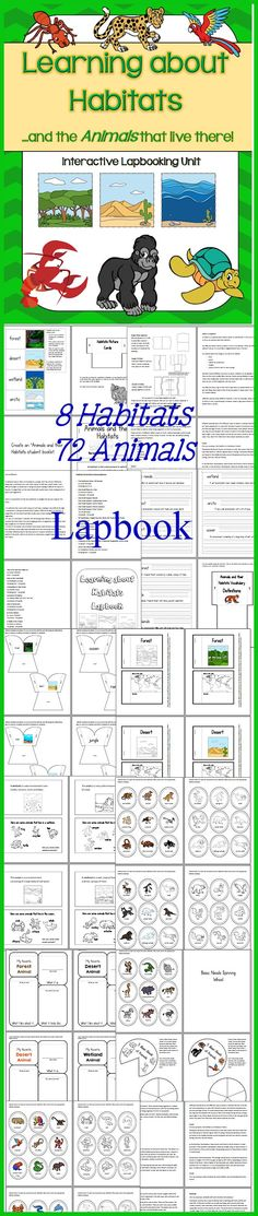 Learning about Habitats and the Animals that live there! Lapbooking Science Unit