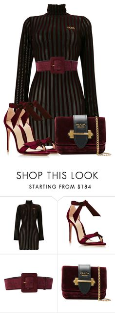 """""""Untitled #1905"""" by styledbyjovonxo ❤ liked on Polyvore featuring GCDS, Alexandre Birman, Yves Saint Laurent and Prada"""